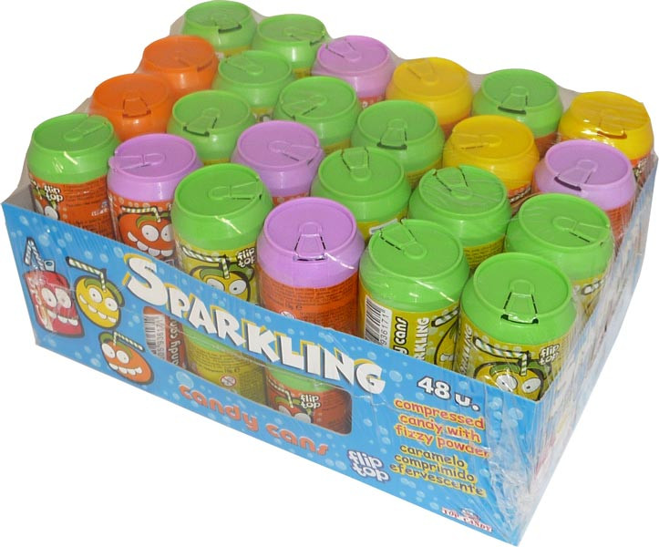 Sparkling Candy Cans, by Candy Brokers,  and more Confectionery at The Professors Online Lolly Shop. (Image Number :2788)