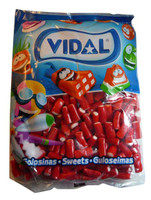 Vidal Strawberry Pencils, by vidal,  and more Confectionery at The Professors Online Lolly Shop. (Image Number :2852)