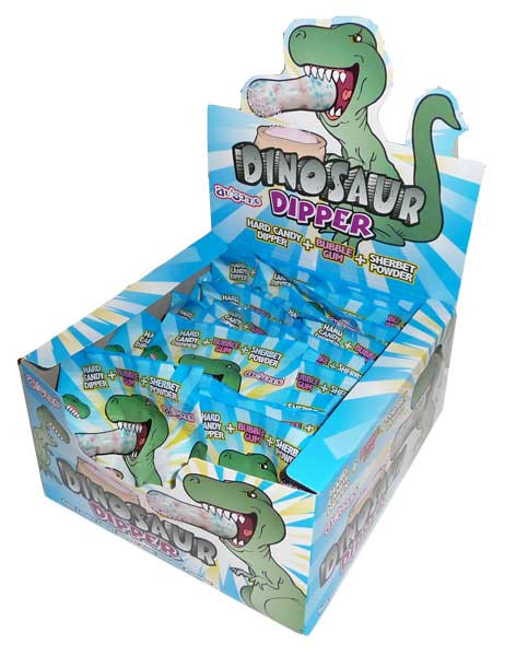 Dinosaur Dipper, by Candy Brokers,  and more Confectionery at The Professors Online Lolly Shop. (Image Number :2862)