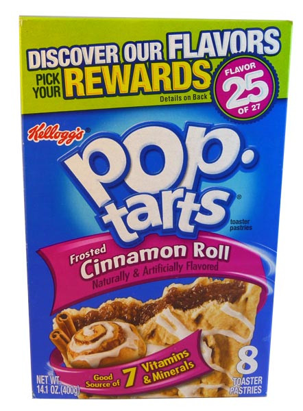 Kelloggs Pop Tarts - Frosted Cinnamon Roll, by Kelloggs Pop Tarts,  and more Snack Foods at The Professors Online Lolly Shop. (Image Number :2913)