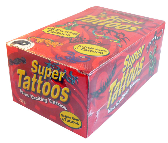 Super Tattoos, by Candy Brokers,  and more Confectionery at The Professors Online Lolly Shop. (Image Number :2875)