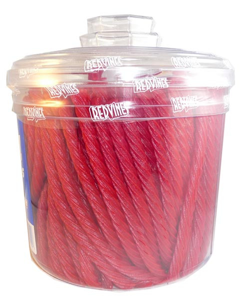 Red Vines 4lbs tub, by American Licorice Co,  and more Confectionery at The Professors Online Lolly Shop. (Image Number :2878)
