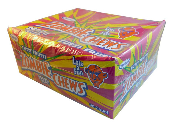 Zombie Chews - Tutti-Frutti, by Sweetmans,  and more Confectionery at The Professors Online Lolly Shop. (Image Number :2890)