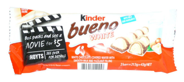 Kinder Bueno White Choc, by Kinder Bueno,  and more Confectionery at The Professors Online Lolly Shop. (Image Number :2900)