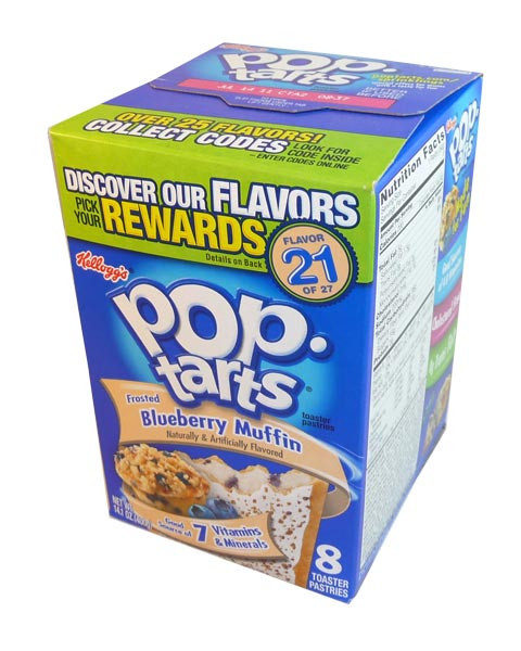 Kelloggs Pop Tarts - Frosted Blueberry Muffin, by Kelloggs Pop Tarts,  and more Snack Foods at The Professors Online Lolly Shop. (Image Number :2909)