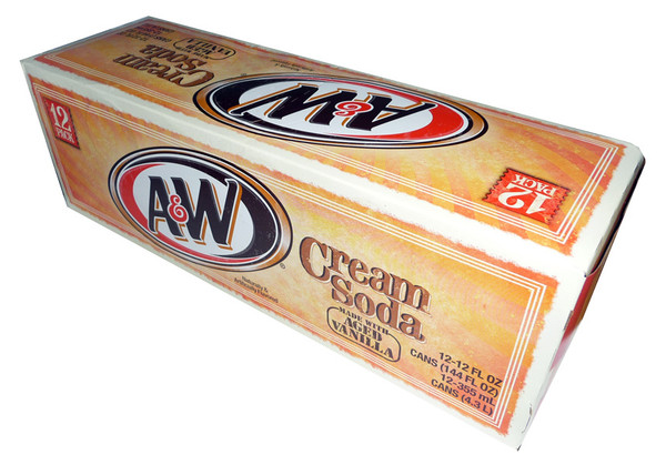 A & W Sparkling Vanilla Cream Soda, by Dr Pepper,  and more Beverages at The Professors Online Lolly Shop. (Image Number :3357)