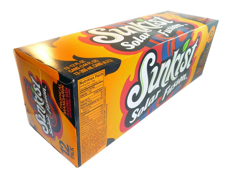 Sunkist - Solar Fusion, by Dr Pepper,  and more Beverages at The Professors Online Lolly Shop. (Image Number :3102)