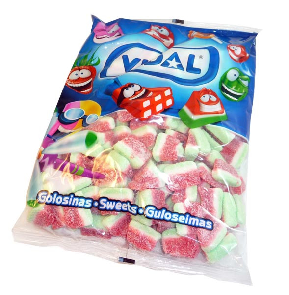 Vidal Watermelon Slices, by Candy Brokers/vidal,  and more Confectionery at The Professors Online Lolly Shop. (Image Number :3139)