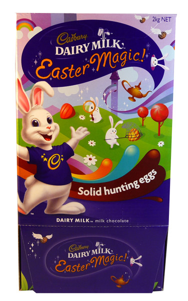 Cadbury Dairy Milk Easter Magic Solid Hunting Eggs, by Cadbury,  and more Confectionery at The Professors Online Lolly Shop. (Image Number :3147)