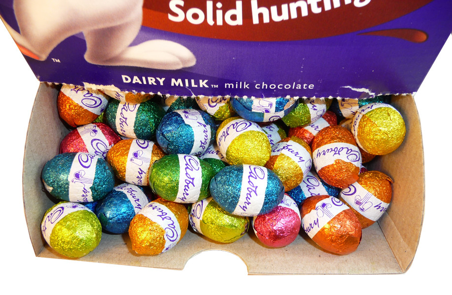 Cadbury Dairy Milk Easter Magic Solid Hunting Eggs, by Cadbury,  and more Confectionery at The Professors Online Lolly Shop. (Image Number :3149)