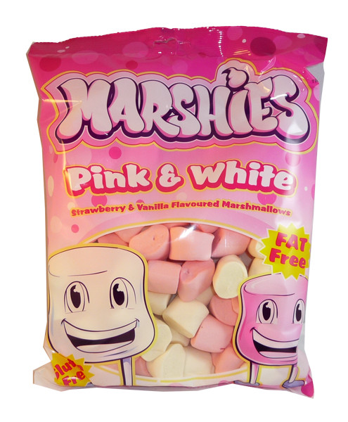 Marshies Pink and White Marshmallows, by Marshies,  and more Confectionery at The Professors Online Lolly Shop. (Image Number :3174)