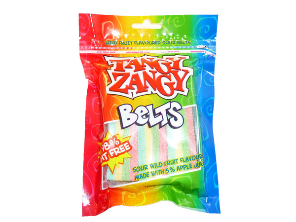 Tangy Zangy Belts Wild Fruits, by Morris National,  and more Confectionery at The Professors Online Lolly Shop. (Image Number :3232)