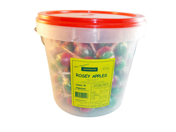Johnsons Rosey Apples, by Johnsons Confectionery,  and more Confectionery at The Professors Online Lolly Shop. (Image Number :3205)