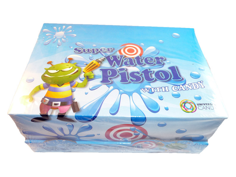Super Water Pistol with Candy, by Universal Candy,  and more Confectionery at The Professors Online Lolly Shop. (Image Number :3228)