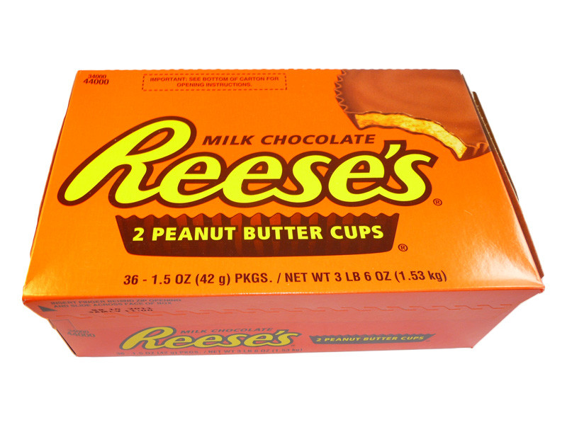 Reeses 2 Peanut Butter Cups, by Reeses,  and more Confectionery at The Professors Online Lolly Shop. (Image Number :3221)