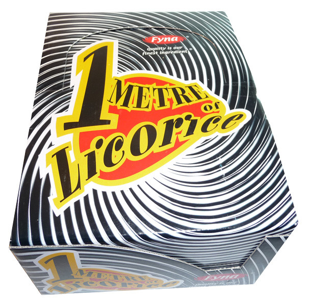 One Metre Licorice, by Fyna Foods,  and more Confectionery at The Professors Online Lolly Shop. (Image Number :3538)