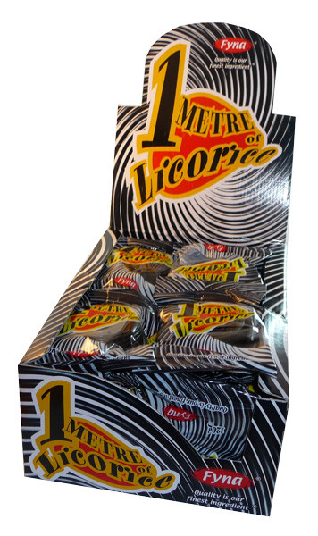 One Metre Licorice, by Fyna Foods,  and more Confectionery at The Professors Online Lolly Shop. (Image Number :3539)