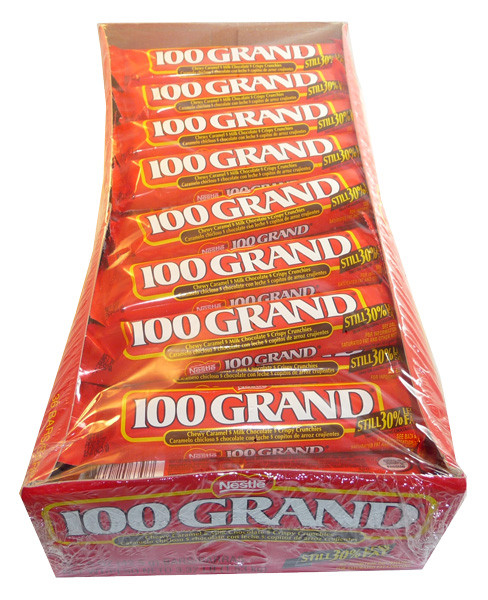 100 Grand, by Nestle,  and more Confectionery at The Professors Online Lolly Shop. (Image Number :3523)