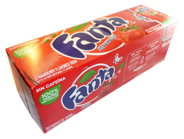Fanta - Strawberry, by Dr Pepper,  and more Beverages at The Professors Online Lolly Shop. (Image Number :3534)