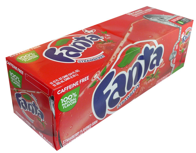 Fanta - Strawberry, by Dr Pepper,  and more Beverages at The Professors Online Lolly Shop. (Image Number :3681)