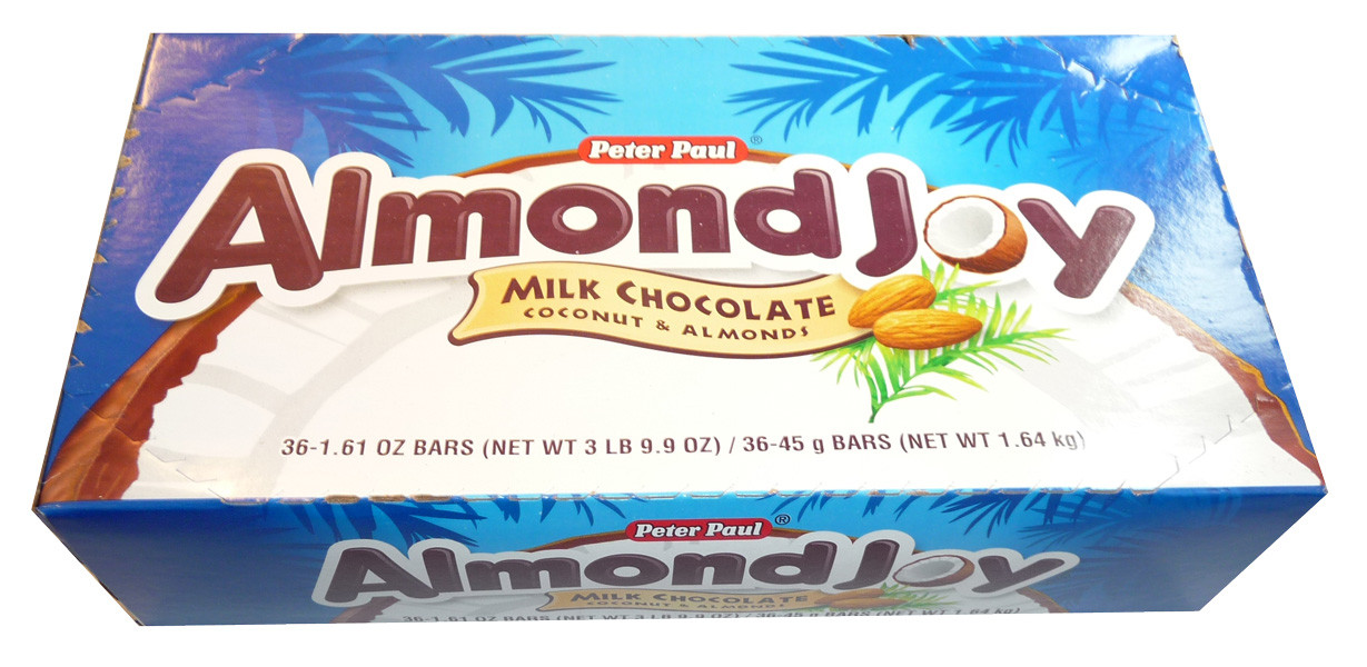Almond Joy, by Hersheys,  and more Confectionery at The Professors Online Lolly Shop. (Image Number :3559)