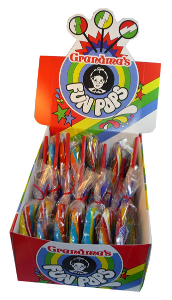 Grandma s Fun Pops, by Johnsons Confectionery,  and more Confectionery at The Professors Online Lolly Shop. (Image Number :3454)