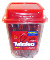 Twizzlers Twists - Strawberry, by Hersheys,  and more Confectionery at The Professors Online Lolly Shop. (Image Number :3460)