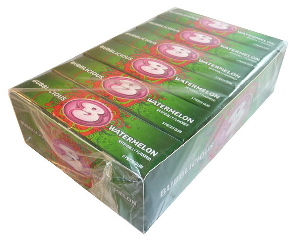 Bubblicious Watermelon Gum, by Cadbury,  and more Confectionery at The Professors Online Lolly Shop. (Image Number :3529)