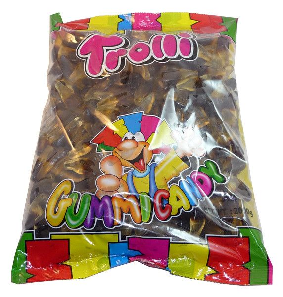 Trolli Cola Bottles, Oiled, by Trolli,  and more Confectionery at The Professors Online Lolly Shop. (Image Number :3494)