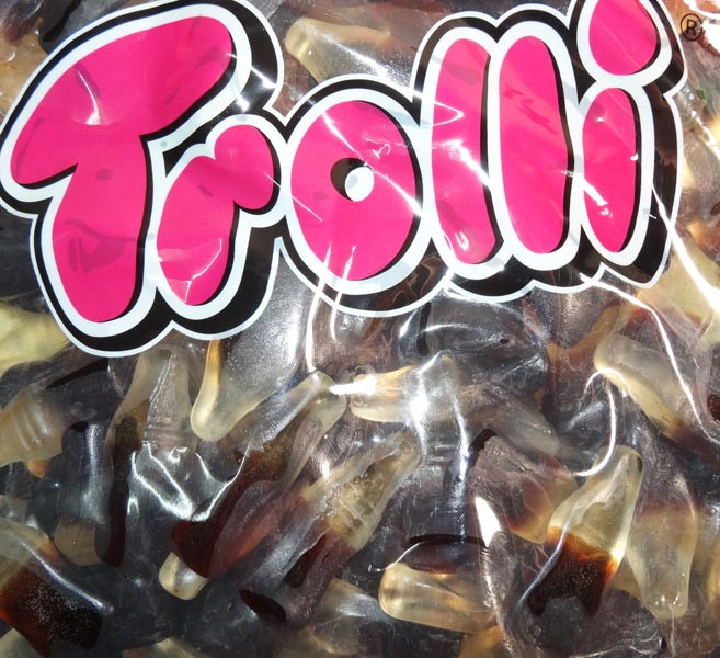 Trolli Cola Bottles, Oiled, by Trolli,  and more Confectionery at The Professors Online Lolly Shop. (Image Number :7941)