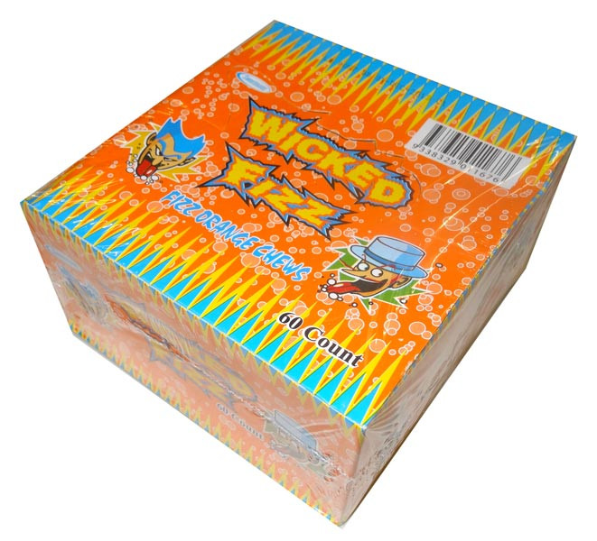 Wicked Fizz Orange, by Sweetmans,  and more Confectionery at The Professors Online Lolly Shop. (Image Number :4380)