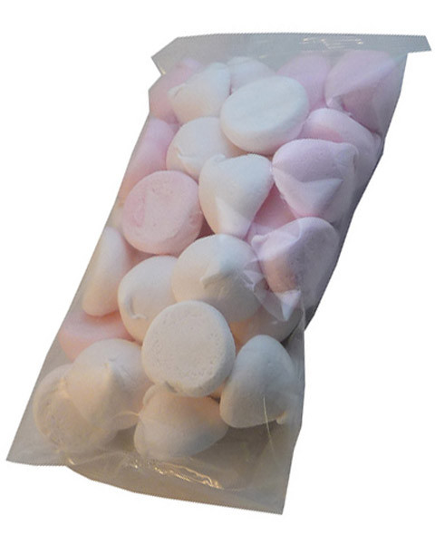 Betta Pink and White Marshmallow Puffs, by Betta Foods,  and more Confectionery at The Professors Online Lolly Shop. (Image Number :6148)
