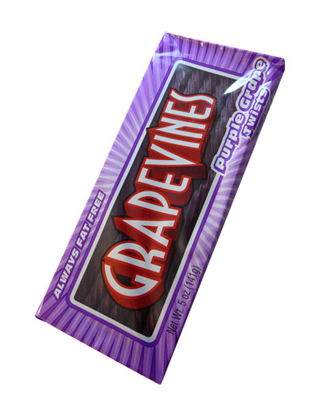 Grape Vines - Purple Grape Twists, by American Licorice Co,  and more Confectionery at The Professors Online Lolly Shop. (Image Number :6158)