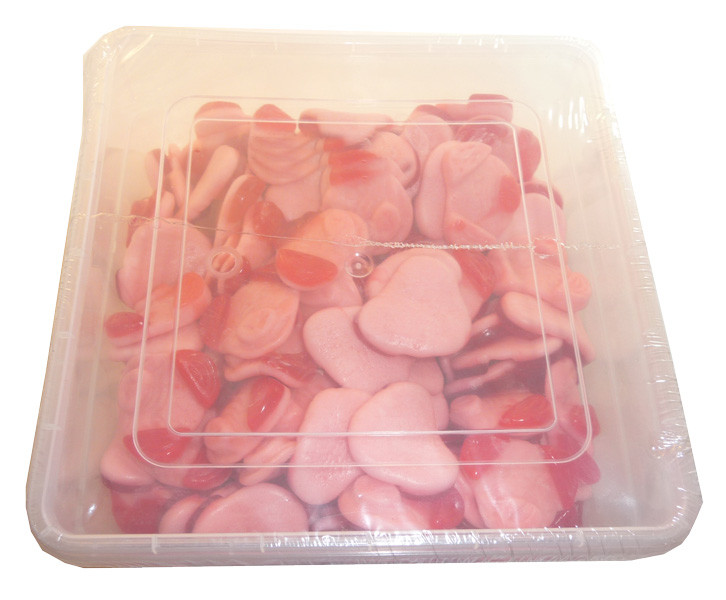 Gummini Red Eared Honky Hogs, by AIT Confectionery,  and more Confectionery at The Professors Online Lolly Shop. (Image Number :3624)