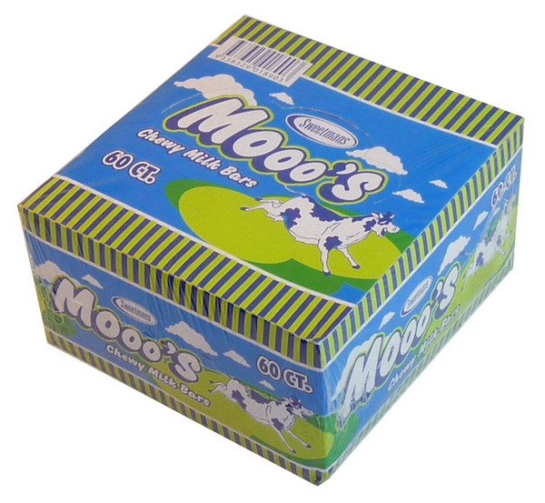 Mooo s Chewy Milk Bars, by Sweetmans,  and more Confectionery at The Professors Online Lolly Shop. (Image Number :3763)
