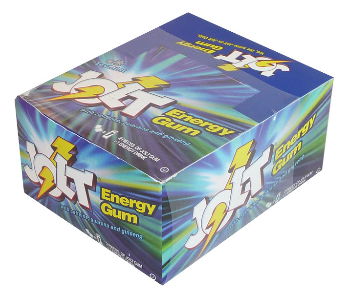 Jolt Energy Gum, by Gumrunners/Other,  and more Confectionery at The Professors Online Lolly Shop. (Image Number :4086)