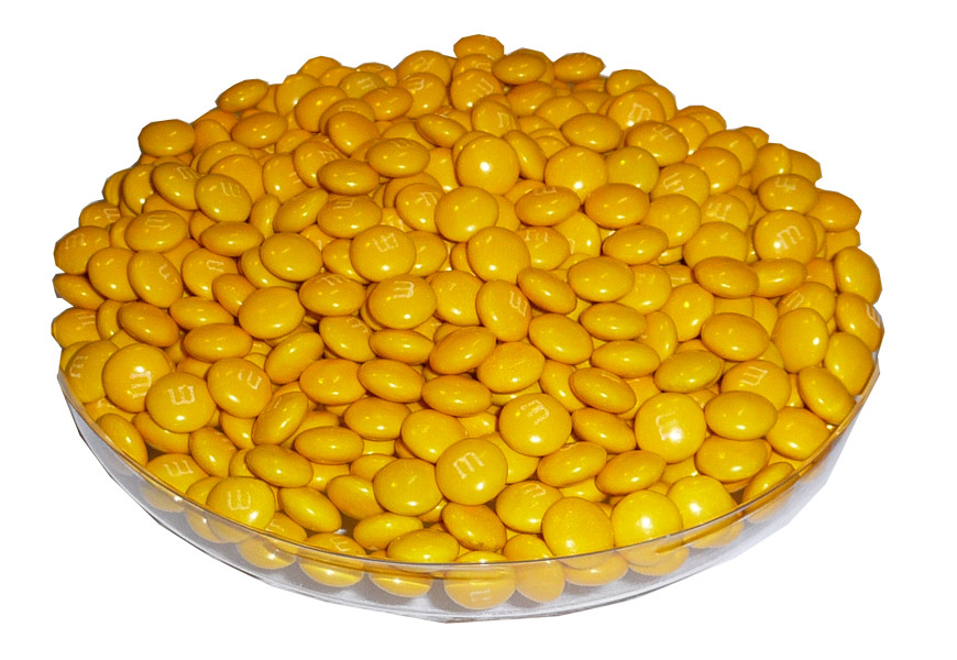 Single Colour M&M s - Yellow, by Mars,  and more Confectionery at The Professors Online Lolly Shop. (Image Number :3790)