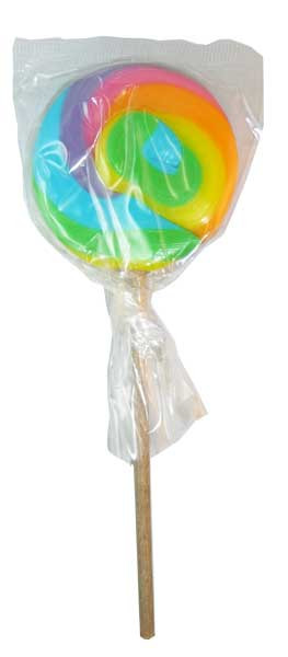 Round Rainbow Lollipop, by Designer Candy/Other,  and more Confectionery at The Professors Online Lolly Shop. (Image Number :3810)