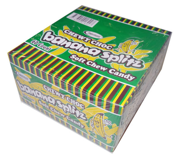 Chewy Choc Banana Splitz, by Sweetmans,  and more Confectionery at The Professors Online Lolly Shop. (Image Number :4306)