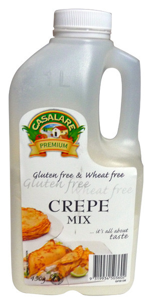 Casalare Crepe Mix - Gluten Free, by Casalare,  and more Snack Foods at The Professors Online Lolly Shop. (Image Number :3941)