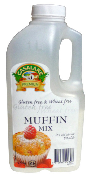 Casalare Muffin Mix - Gluten Free, by Casalare,  and more Snack Foods at The Professors Online Lolly Shop. (Image Number :3943)