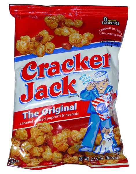 Cracker Jack - Caramel Coated Popcorn and Peanuts, by Frito-Lay,  and more Snack Foods at The Professors Online Lolly Shop. (Image Number :4072)
