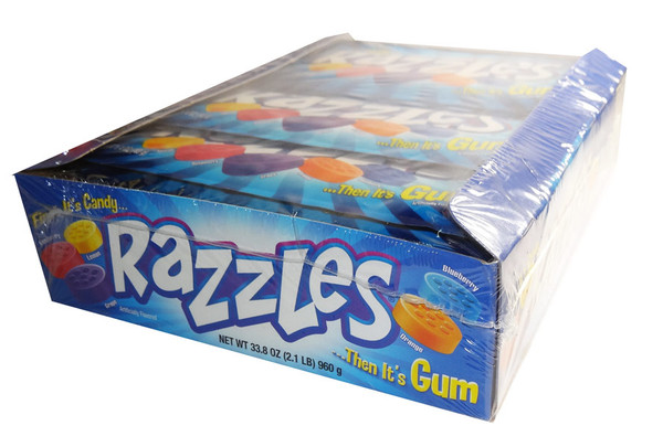Razzles - Original, by Tootsie Roll Industries,  and more Confectionery at The Professors Online Lolly Shop. (Image Number :6682)