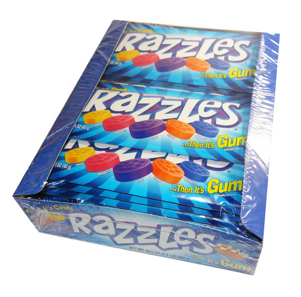 Razzles - Original, by Tootsie Roll Industries,  and more Confectionery at The Professors Online Lolly Shop. (Image Number :6683)