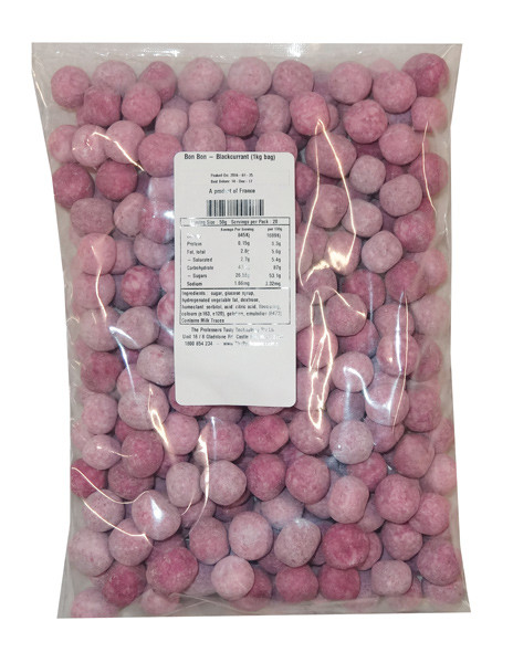 Bon Bon - Blackcurrant, by Kingsway,  and more Confectionery at The Professors Online Lolly Shop. (Image Number :9559)