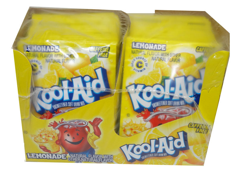 Kool Aid Pack  - Lemonade flavour, by Kool Aid,  and more Beverages at The Professors Online Lolly Shop. (Image Number :4657)
