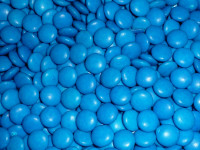 Choc Drops - Blue Single Colour Smarties clones (Our main image of this Confectionery)