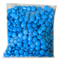 Choc Drops - Blue Single Colour Smarties clones, by Confectionery House,  and more Confectionery at The Professors Online Lolly Shop. (Image Number :8303)