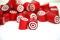 Rock Candy - Red and White - Bulls-eye Center, by Designer Candy,  and more Confectionery at The Professors Online Lolly Shop. (Image Number :9103)