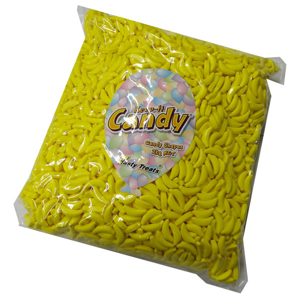 Bananas - hard candy pieces, by Tasty Treats,  and more Confectionery at The Professors Online Lolly Shop. (Image Number :4359)